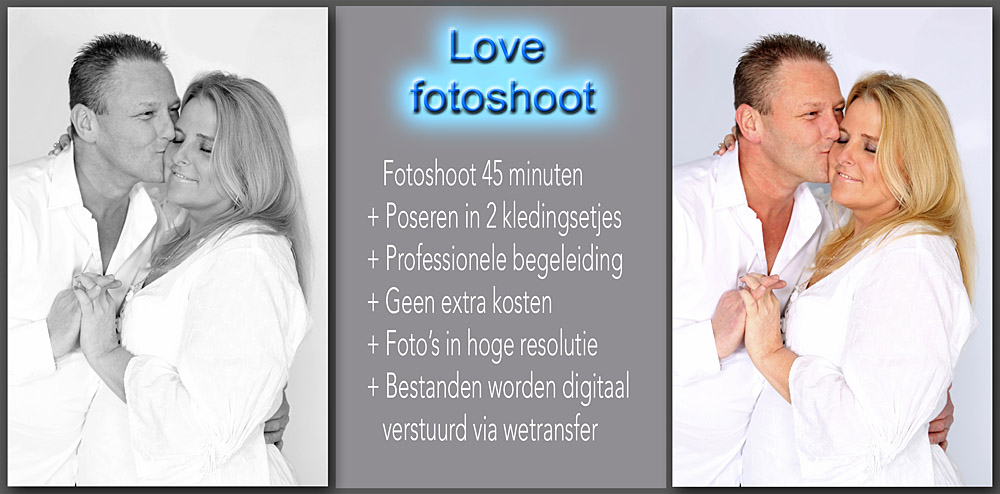 love fotoshoot trouwkaart foto's